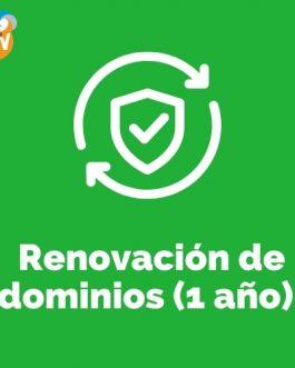 Renovación de 1 Dominios por un año (rebajado)