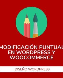 Modificaciones puntuales en el diseño de WordPress o Woocommerce